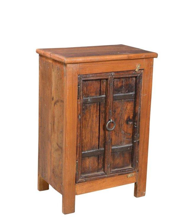 India - Old Furniture Old Door Bedside Cabinet
