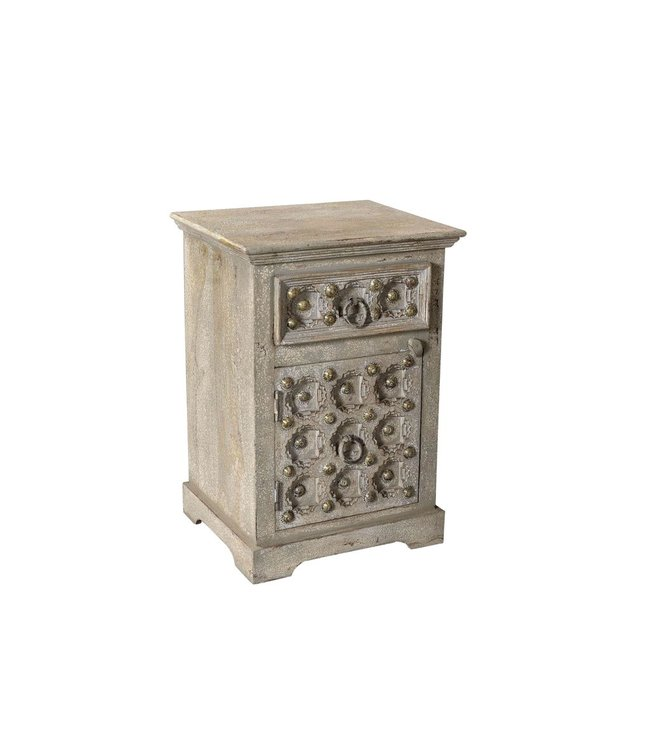 India - Old Furniture Old Door Small Cupboard/Bedside Cabinet