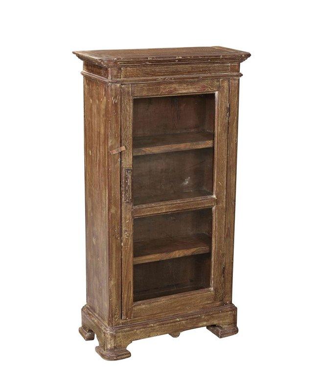 Old Teak Glazed Cabinet