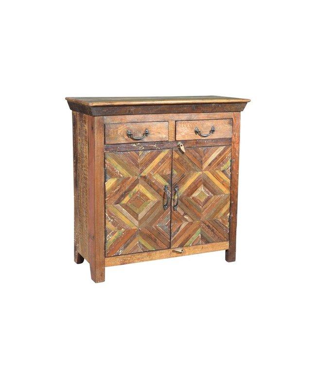 India - Old Furniture Reclaimed Teak Cabinet