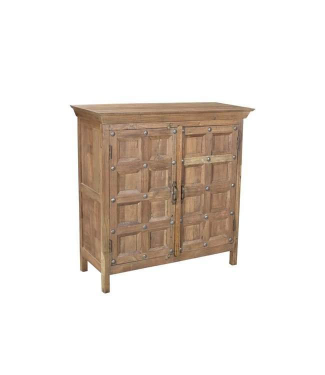 India - Old Furniture Small Cupboard with Blockwork