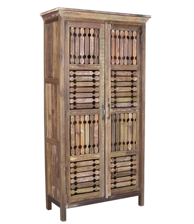 India - Old Furniture Tribal Style Teak Cabinet