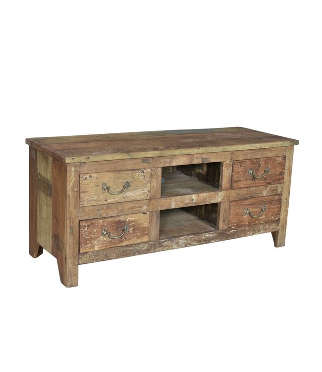 India - Old Furniture Recalimed Teak TV Unit