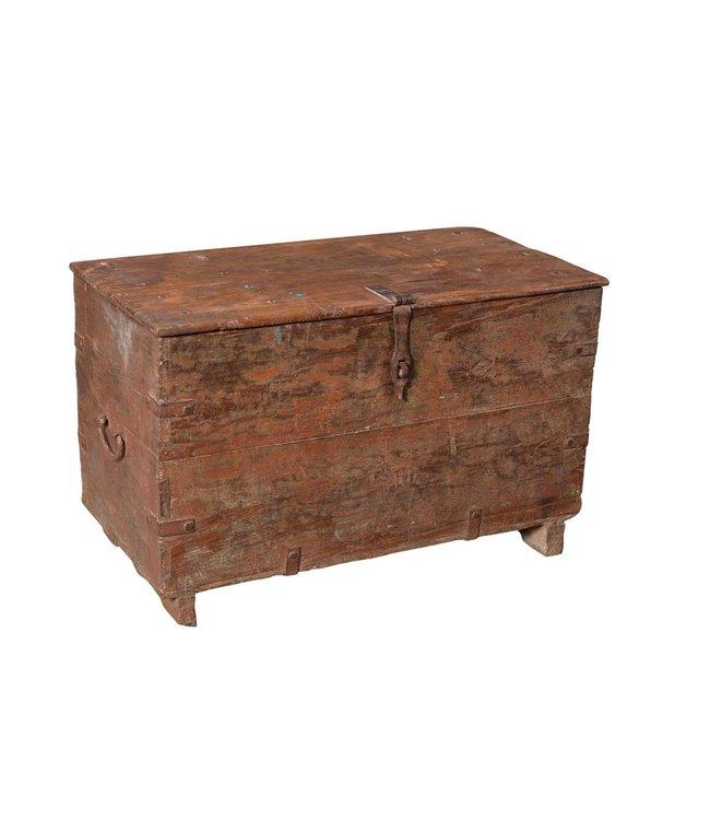 India - Old Furniture Old Teak Chest
