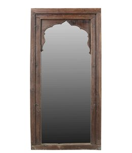 India - Old Furniture Mughal Style Window Frame Mirror