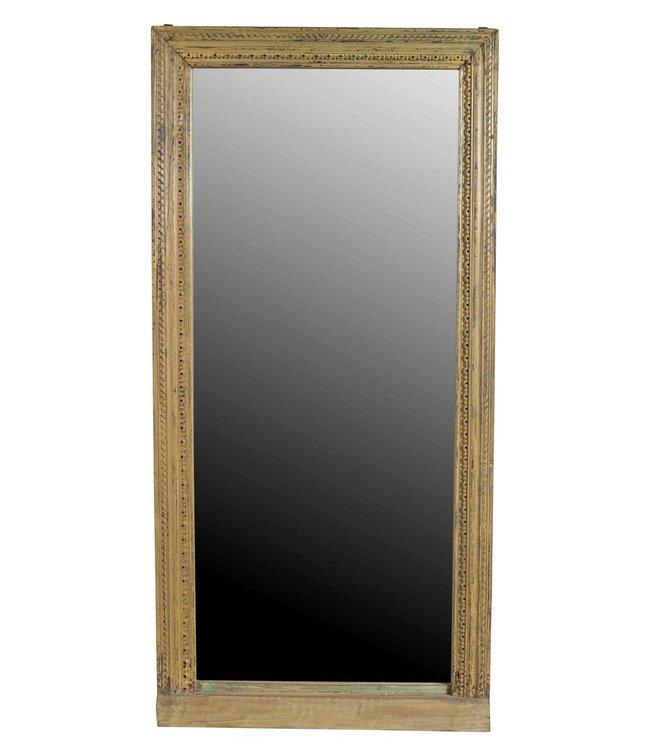 India - Old Furniture Old Teak Mirror