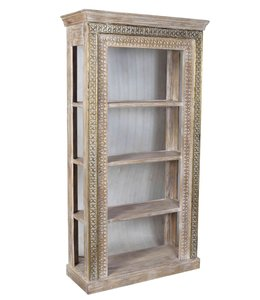 India - Old Furniture Indian Carved Bookcase