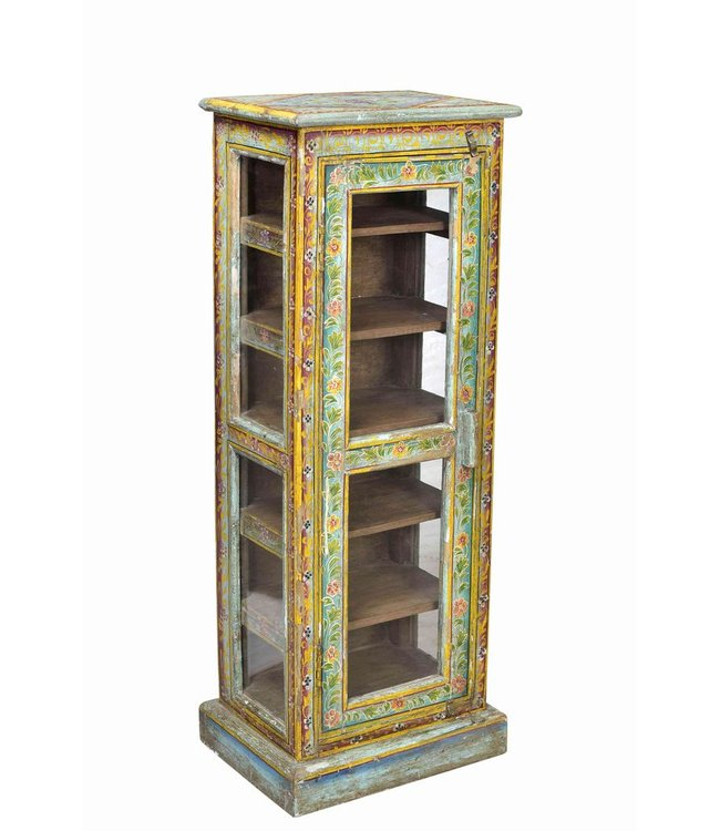 India - Old Furniture Painted Display Cabinet
