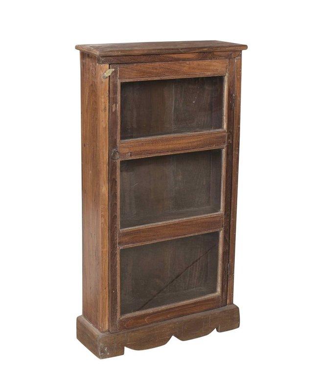 India - Old Furniture Old Teak Glazed Cabinet