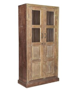 India - Old Furniture Wooden Cabinet with Jali Doors