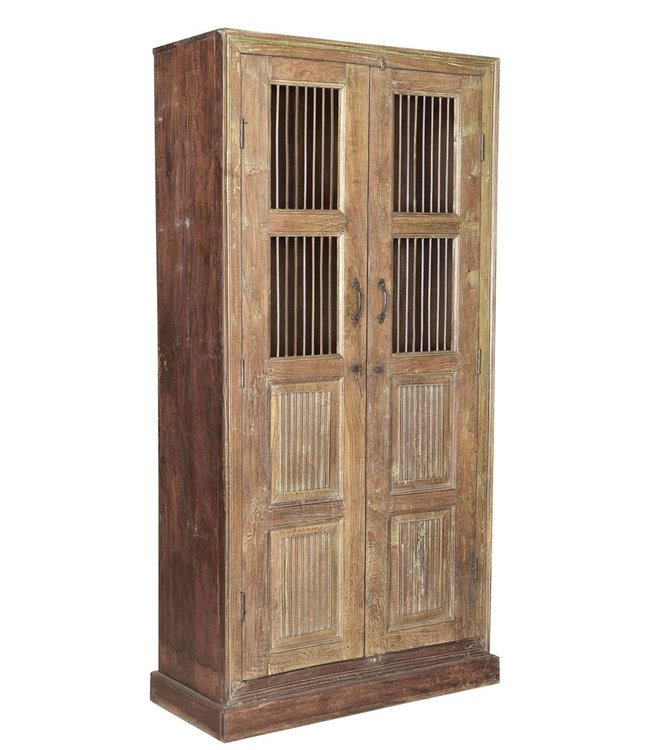 Wooden Cabinet with Jali Doors