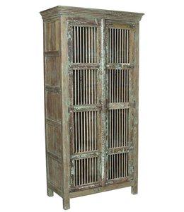 India - Old Furniture Old Jali Cabinet