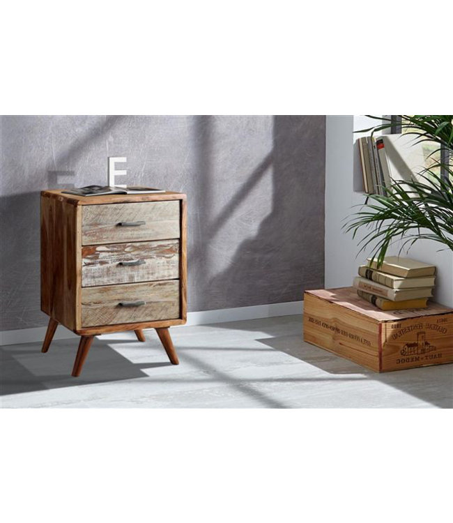 India - Reproduction Furniture Zen Acacia Three Drawer Cabinet