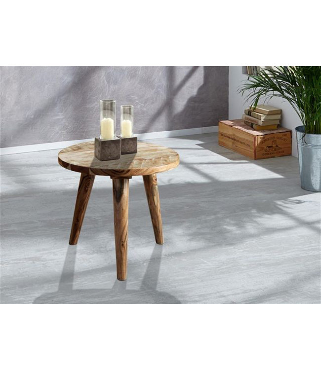 Zen Acacia Round Side Table