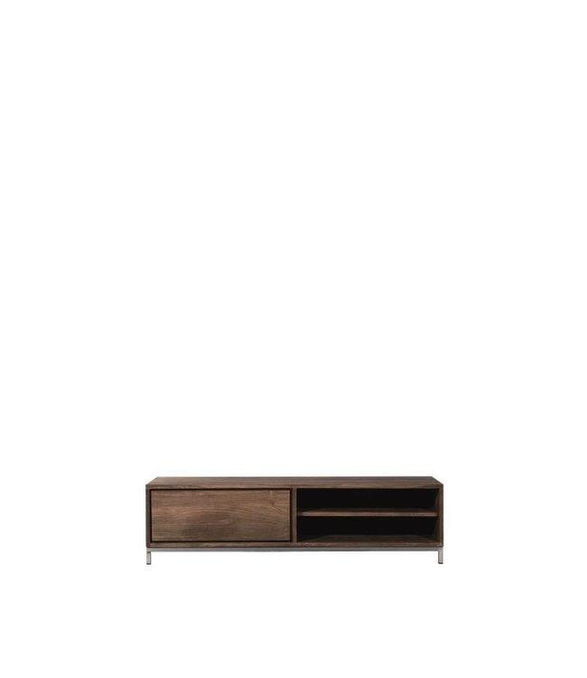 Teak Essential TV cupboard - 1 drawer