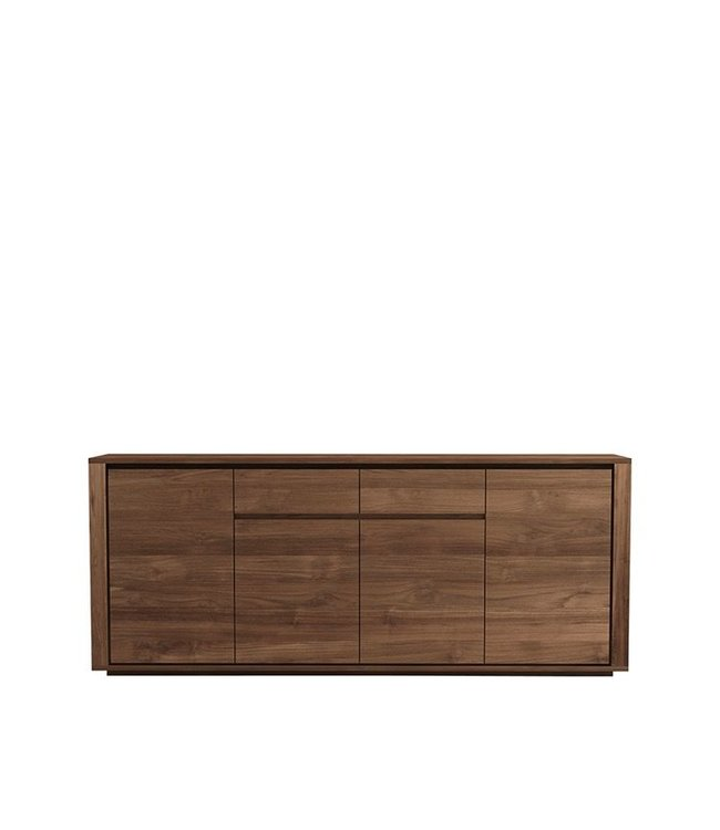 Teak Elemental sideboard - 4 doors / 2 drawers - FSC 100% - New