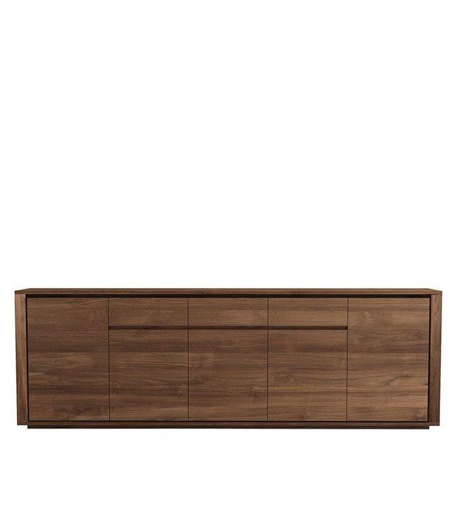 Ethnicraft Teak Teak Elemental sideboard - 5 doors / 3 drawers - FSC 100%  - New