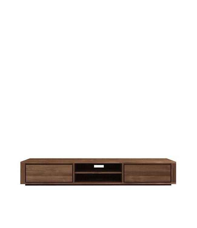 Teak Elemental TV cupboard - 2 drawers  - FSC 100% - New