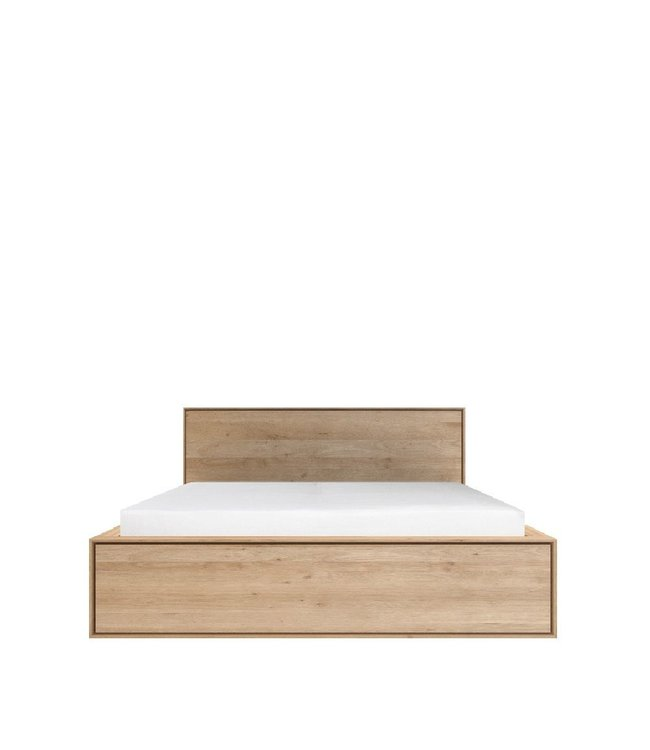 Ethnicraft Oak NORDIC II BED WITH DRAWERS