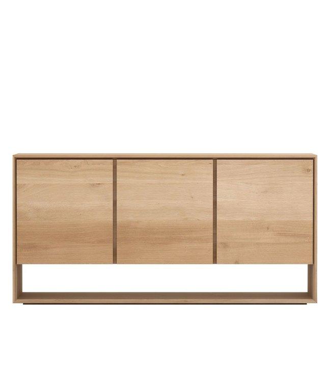 Oak Nordic sideboard - 3 opening doors