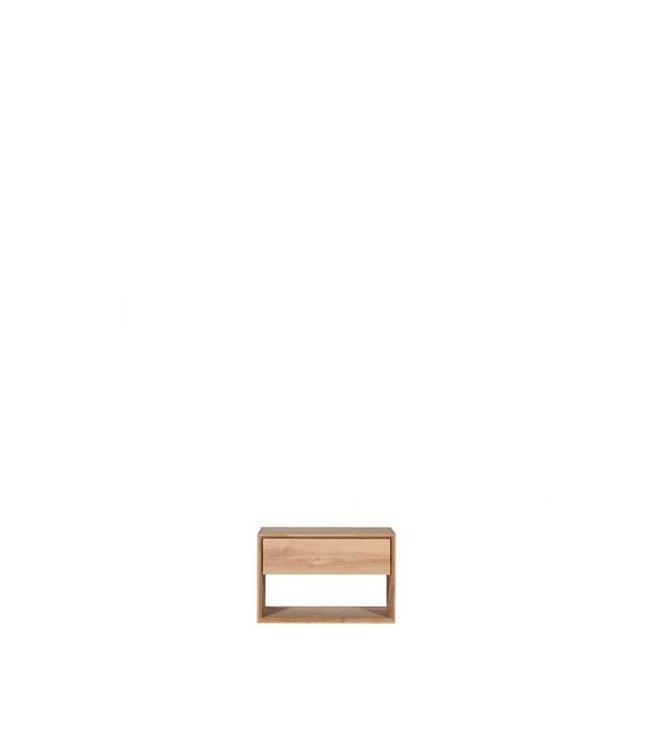 Oak Nordic Nightstand - 1 drawer