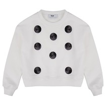 MSGM Sweater Corta Black White