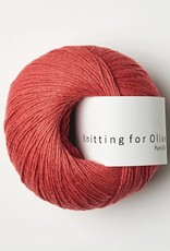 knitting for olive Knitting for Olive - Pure Silk Coral Red