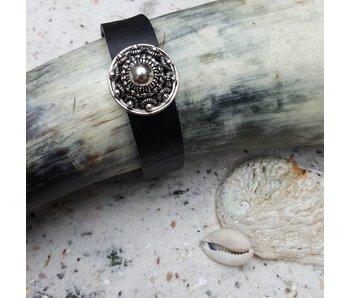 Zeeuws Zwarte leren armband met zeeuwse knop
