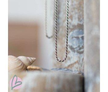 Zeeuws Zilveren losse ketting 40cm