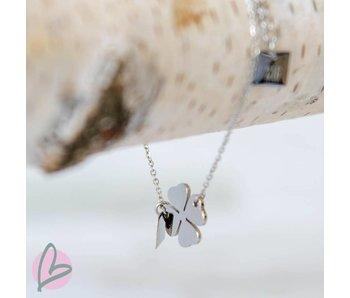 ZAG Bijoux armbandje met klavertje zilver