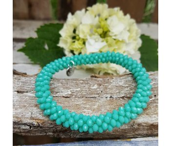 Biba groen turquoise kralenarmband