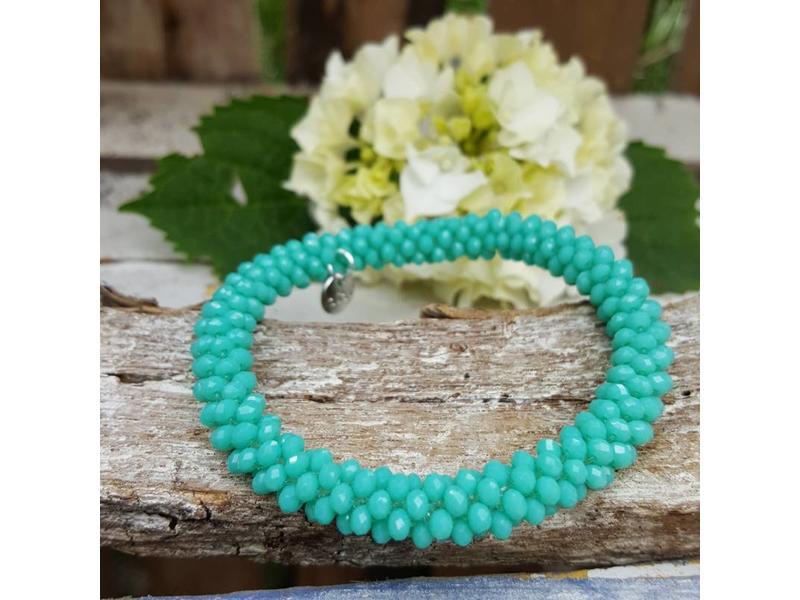 Biba Biba groen turquoise kralenarmband