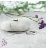 ZAG Bijoux ketting zilver met bruine kraaltjes