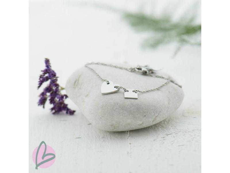 ZAG Bijoux Armband zilver met hartje