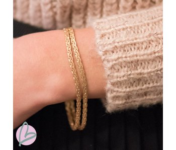 Biba metalen armband goud/burnished gold 'double'