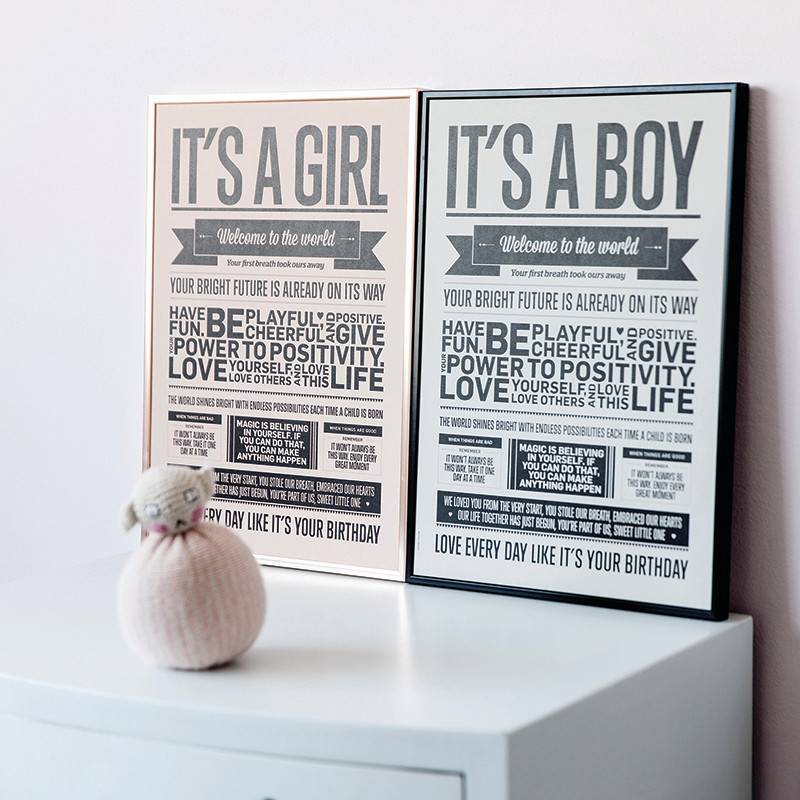 I Love My Type Poster 'It's a girl'