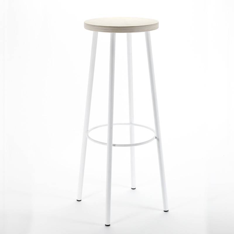 Serax Feeling Multiplex blanc 80cm Tabouret à bar