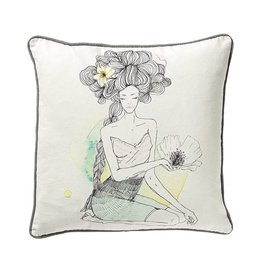 Bloomingville Coussin Dame