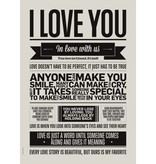 I Love My Type Affiche 'I love you'