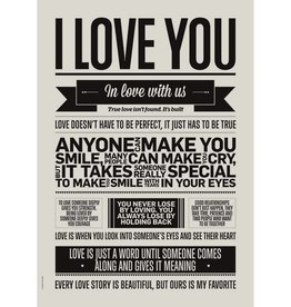 I Love My Type Poster 'I love you'
