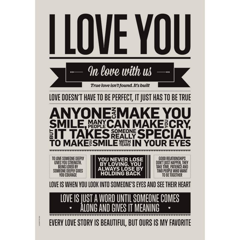 Op Zoek Naar Een Poster I Love You M Van I Love My Type Livingdesign