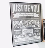 I Love My Type Affiche 'Just be you'
