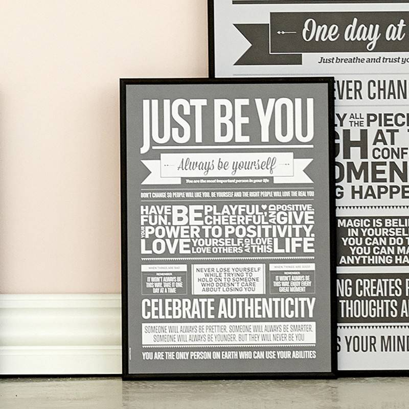 I Love My Type Poster 'Just be you'