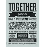 I Love My Type Poster 'Together'