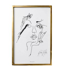 Bloomingville Kader Gold Sketched Woman