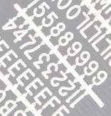 """Funkk Letterset S wit (3/4 inch)""""etters"""