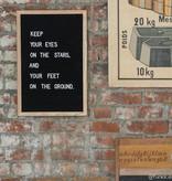 Funkk Zwart Vilt Letterbord M eik (incl letters)