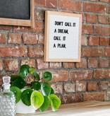 Funkk Wit Vilt Letterbord S eik (incl letters)