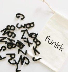 """Funkk Letterset M zwart (1 inch)""""etters"""