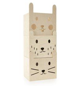 Miniwoo Boîte de rangement empilable (set de 3)